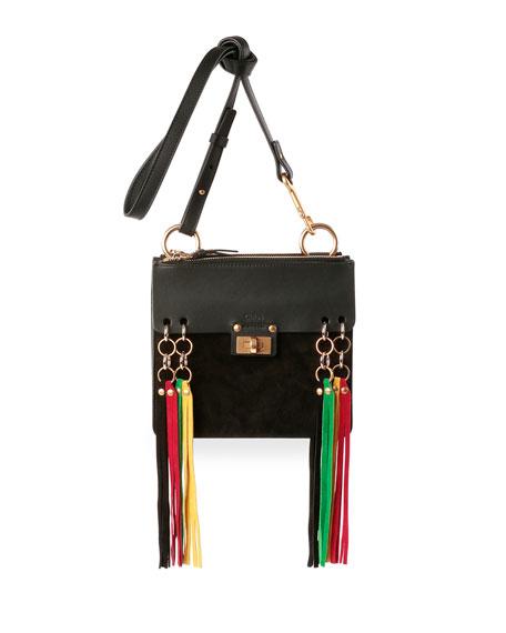 ae65b61bbd Chloe Jane Tassel-Trim Leather Crossbody Bag