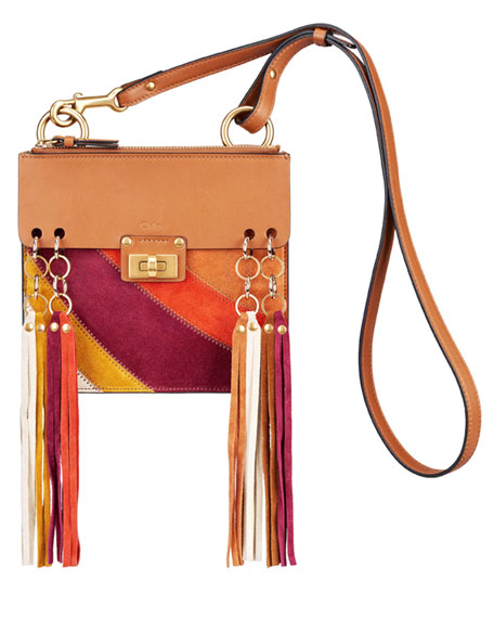 chloe designer handbags - Chloe Jane Small Tassel-Trim Leather Crossbody Bag
