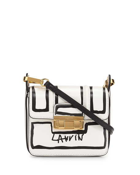 Jiji Lanvin-Print Mini Shoulder Bag, White/Black