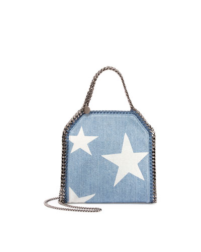 Mini Star-Print Bella Crossbody Bag, Blue