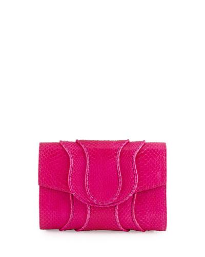 Jolie Watersnake Envelope Clutch Bag, Passion