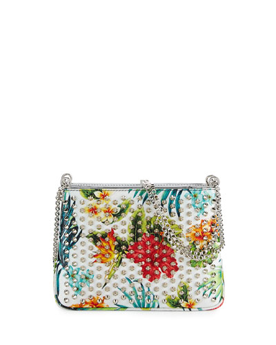 Triloubi Small Floral-Print Shoulder Bag, White/Multi