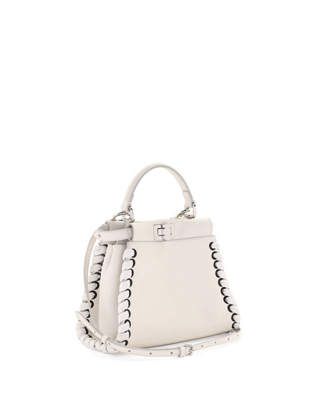 418a6170 Peekaboo Mini Lace-Up Leather Satchel Bag