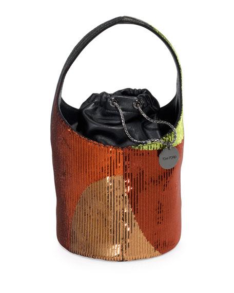 7238bb507185 TOM FORD Miranda Medium Sequined Hobo Bag
