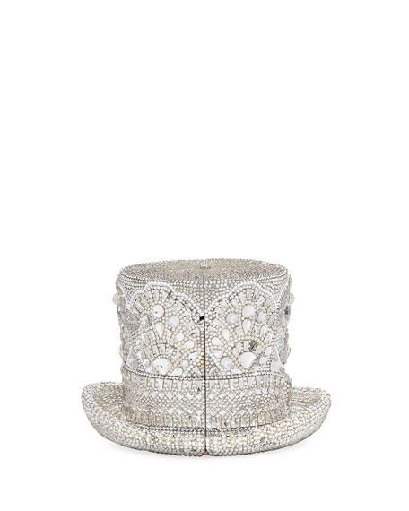 Judith Leiber Couture Abracadabra Crystal Top Hat Minaudiere,