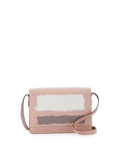 Pulce XL Leather Crossbody Bag, Pastel Petal