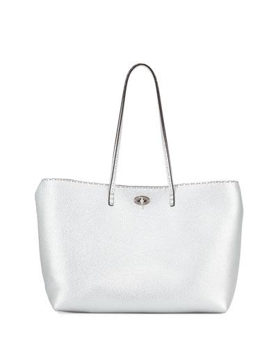 Selleria Carla Tote Bag, Silver
