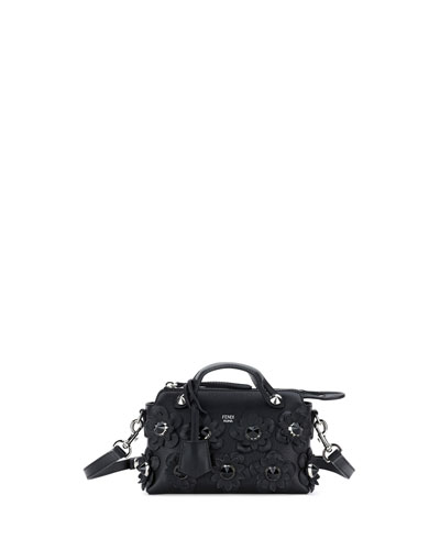 By the Way Mini Flowers Satchel Bag, Black