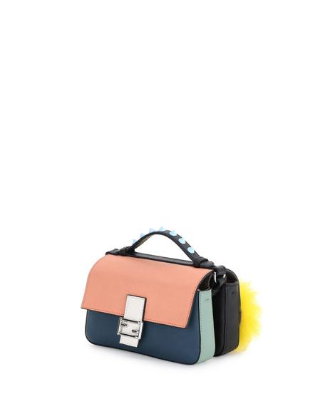 micro Double Baguette crossbody bag - Black Fendi 0ILT8xmh