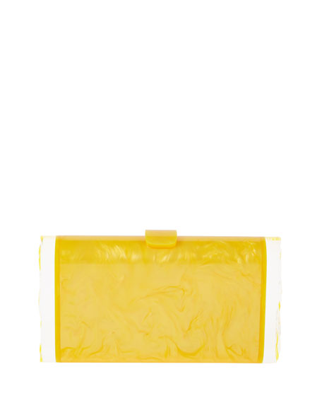 Lara Pearlescent Acrylic Clutch Bag