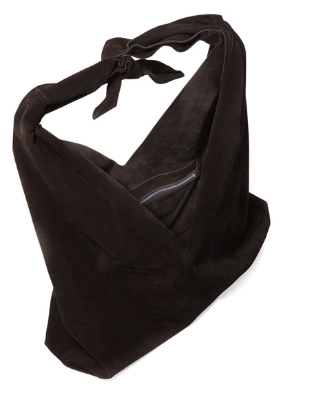 5e18f0e999 THE ROW Bindle Knot Suede Hobo Bag