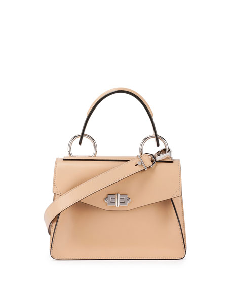 Hava Small Leather Top-Handle Satchel Bag