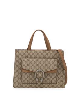 Dionysus Medium GG Supreme Tote Bag, Brown