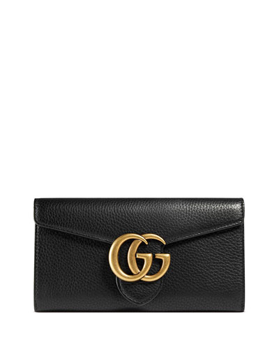 GG Marmont Continental Wallet, Black