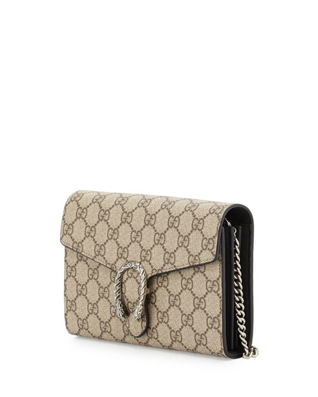 abc6965373cf Gucci Dionysus GG Supreme Wallet-on-a-Chain