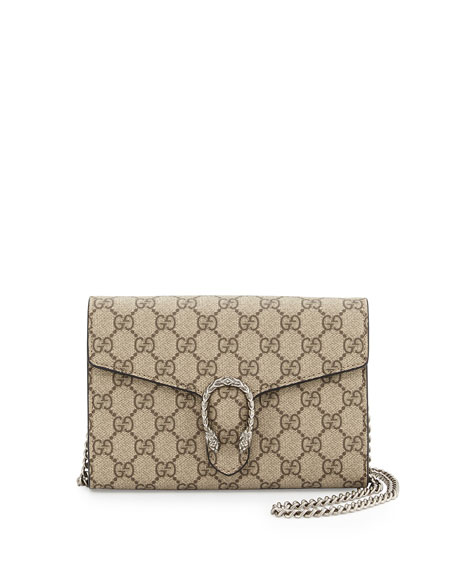 742d5f54a8b4 Gucci Dionysus GG Supreme Wallet-on-a-Chain