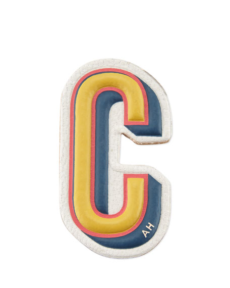 """C"" Leather Sticker for Handbag"