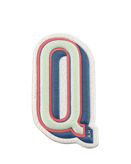 """Q"" Leather Sticker for Handbag"