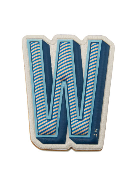 """W"" Leather Sticker for Handbag"