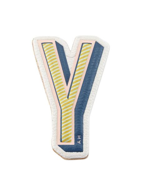 """""""Y"""" Leather Sticker for Handbag"""
