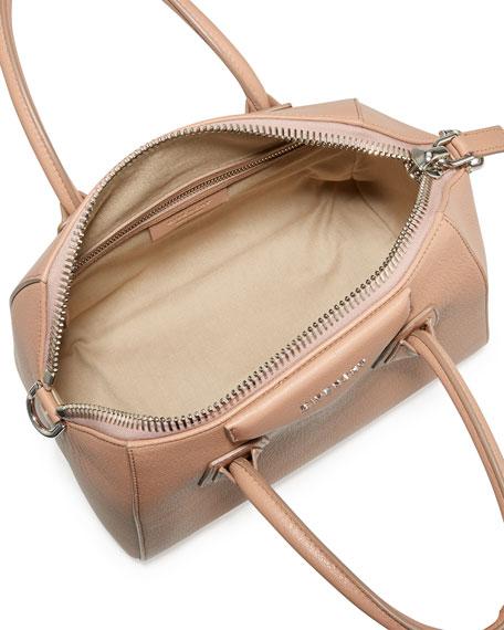 988ef17eb4d5 Antigona Small Sugar Goatskin Satchel Bag Old Pink