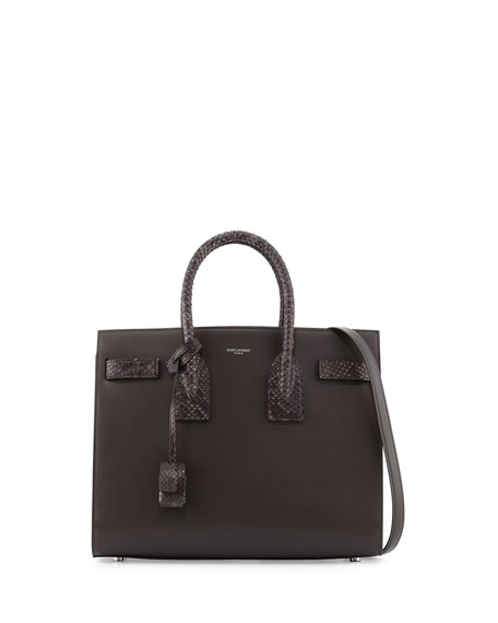 Sac De Jour Small Textured-leather Tote - Charcoal Saint Laurent KYjyi