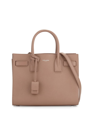 Sac de Jour Baby Grain Leather Satchel Bag, Fard Pink