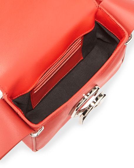 Alix Flap Mini Crossbody Bag, Cherry