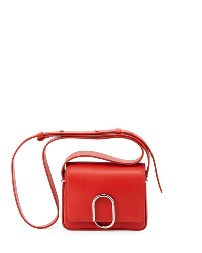 Alix Flap Mini Crossbody Bag, Cherry