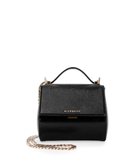 Pandora Mini Saffiano Box Shoulder Bag, Black