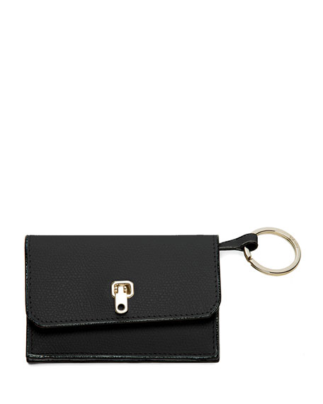 City Wallet w/Key Ring, Black