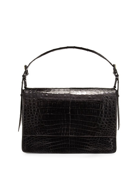 Crocodile New Flap Satchel Bag