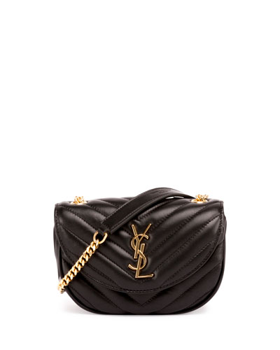 Monogram Small Bubble Chain Crossbody Bag, Black (Noir)