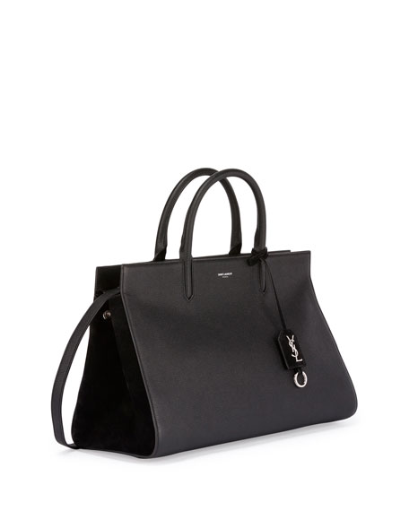 Rive Gauche Medium Tote Bag, Black (Noir)