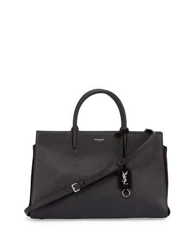 Rive Gauche Medium Tote Bag, Black (Noir)