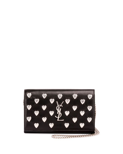 yves saint laurent monogram leather large flap continental wallet
