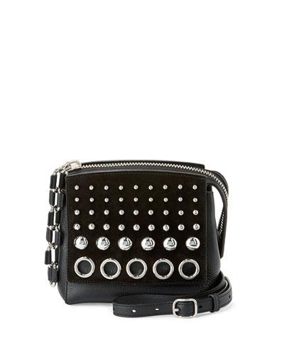Attica Chain Marion Shoulder Bag, Black