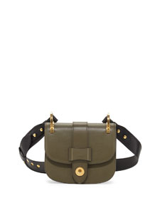 552781dbd3b2 Prada Pionniere Bicolor Leather Saddle Bag