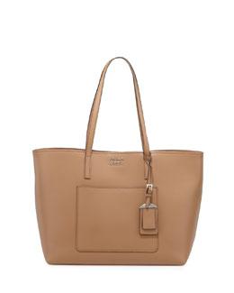 Soft Leather Shopper Tote Bag