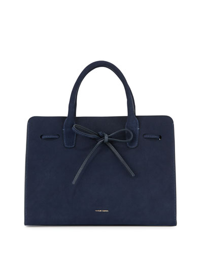 Suede Sun Tote Bag, Blue