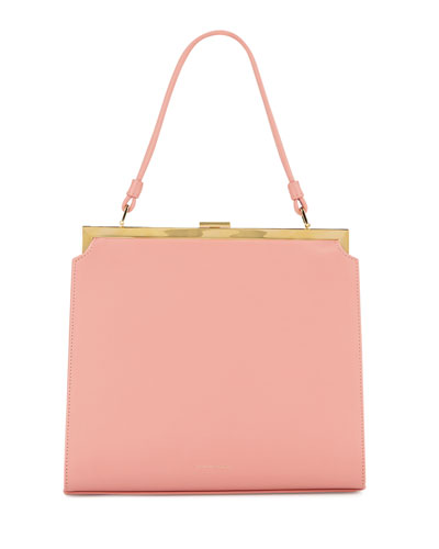 Elegant Leather Top-Handle Bag