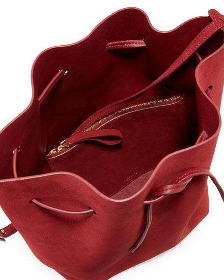 Suede Bucket Bag