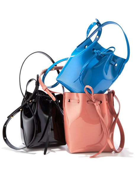 Mansur Gavriel Mini Mini Patent Leather Bucket Bag
