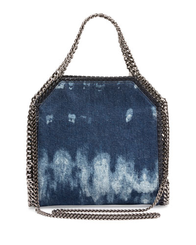 Mini Bella Denim Tote Bag, Blue