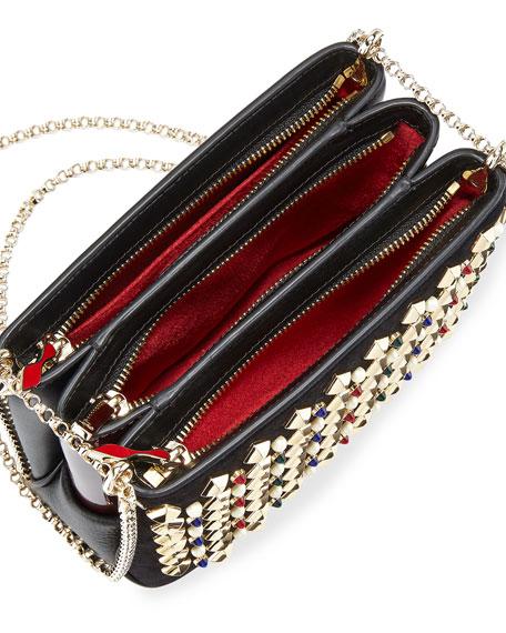 Triloubi Small Spiked Shoulder Bag, Black Multi