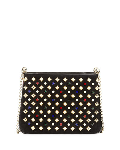 Triloubi Small Spiked Shoulder Bag, Black Multi