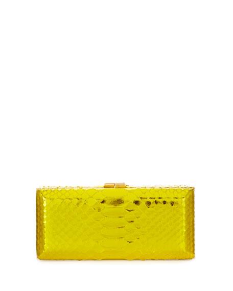 Rectangle Compact 21 Python Clutch Bag