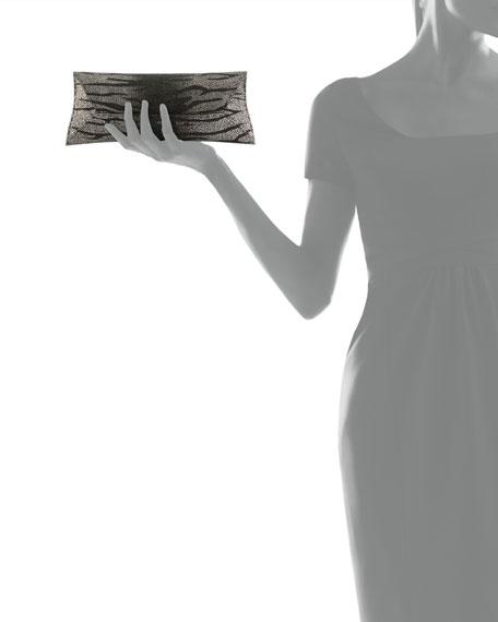 Manila Stretch Stingray Clutch Bag, Silver