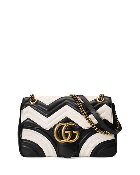 656a7691016f Gucci GG Marmont Chevron Shoulder Bag