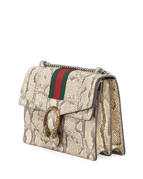 Dionysus Medium Python Shoulder Bag, Neutral